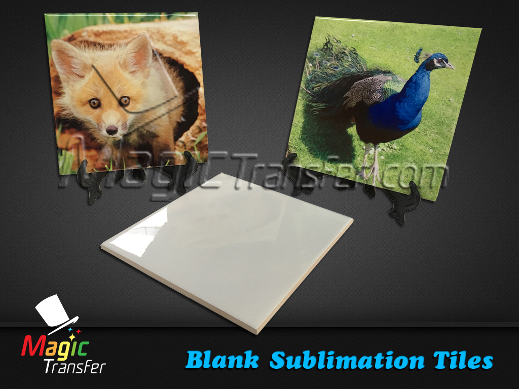 Sublimation Ceramic Tiles 43mm X 43mm Magic Transfer