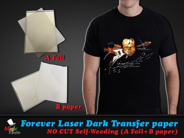 Forever Laser Dark No Cut Self Weeding Heat Transfer Paper